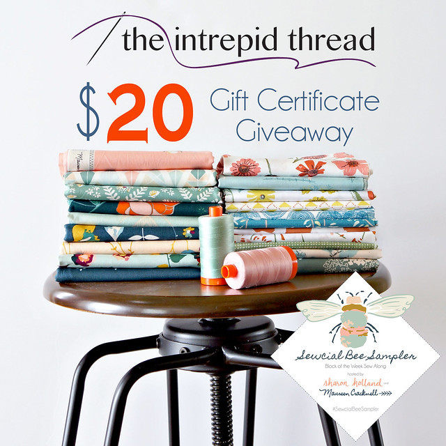 Sewcial Bee Giveaway The Intrepid Thread