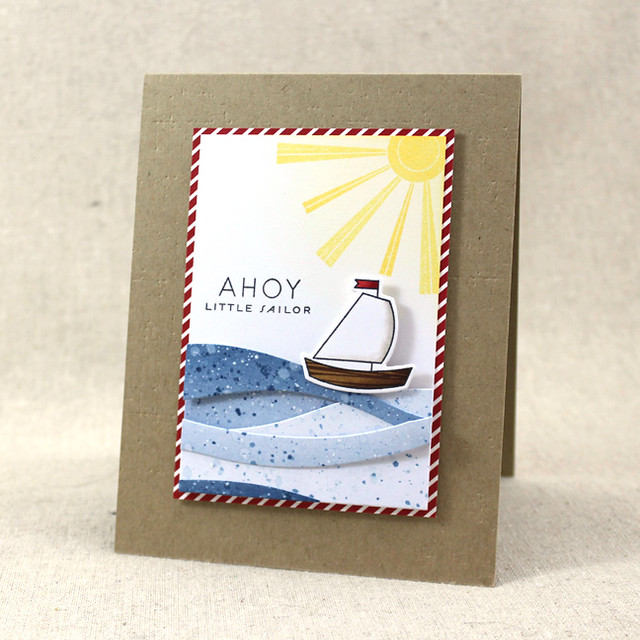 10th Anniversary - Ahoy Little Sailor Card