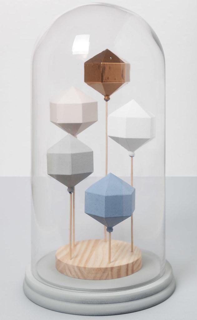 DIY Campana de cristal con figuras geométricas · DIY Dome with geometic sculptures · Fábrica de Imaginación · Tutorial in Spanish