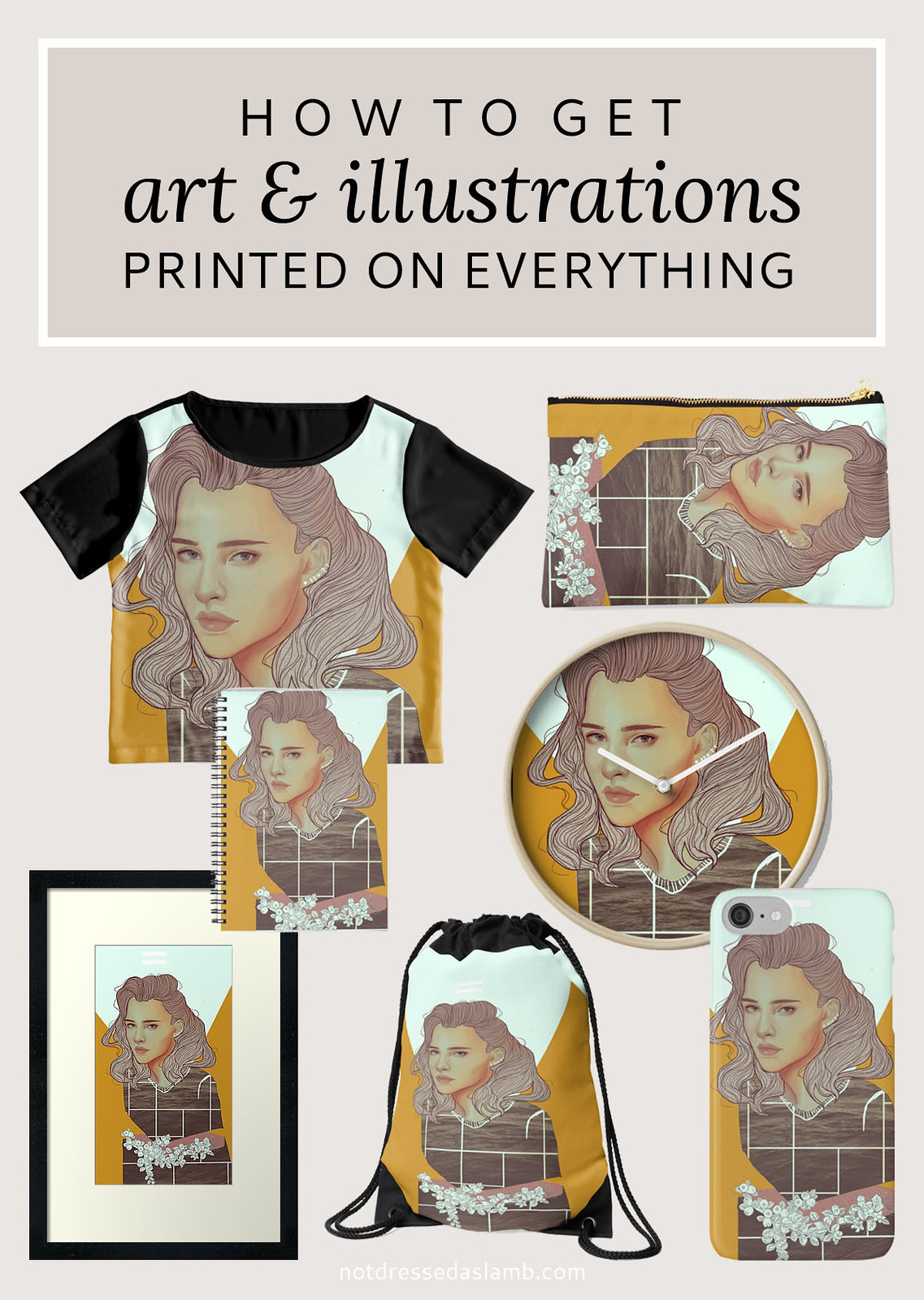 How to get art and illustrations printed on everything - redbubble.com | Not Dressed As Lamb