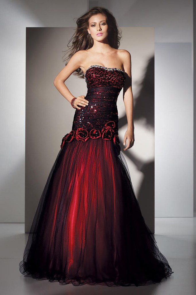 Black And Red Ball Gowns | via Gown Design Ideas ift.tt/1KSX… | Flickr
