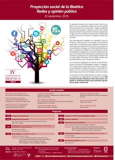 IV Jornada de Bioética, cartel