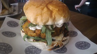 Vegetarian Burger Newy Burger Co | by phonakins