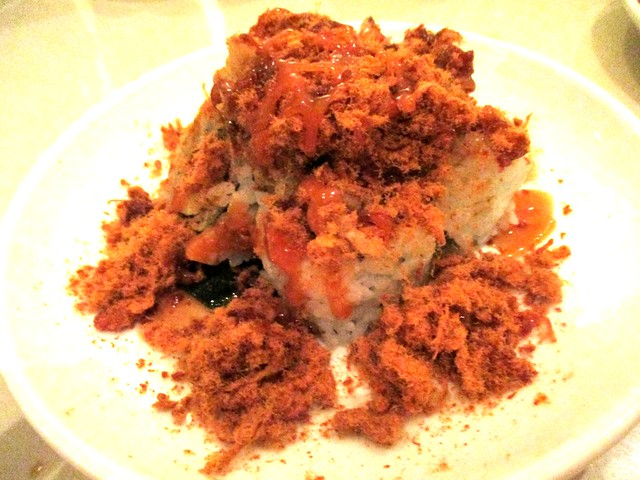 Zen softshell crab with meat floss