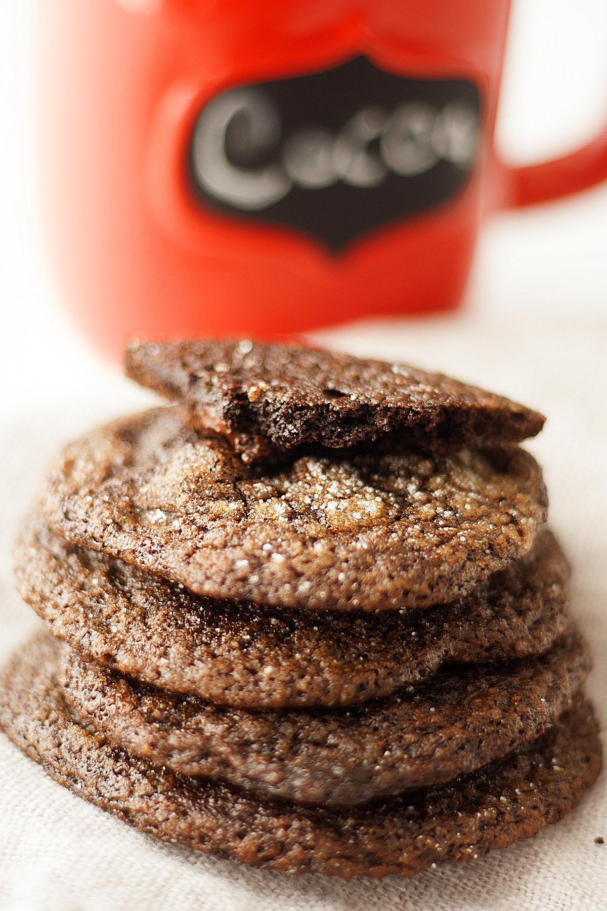 fudgy flourless gingerbread cookies