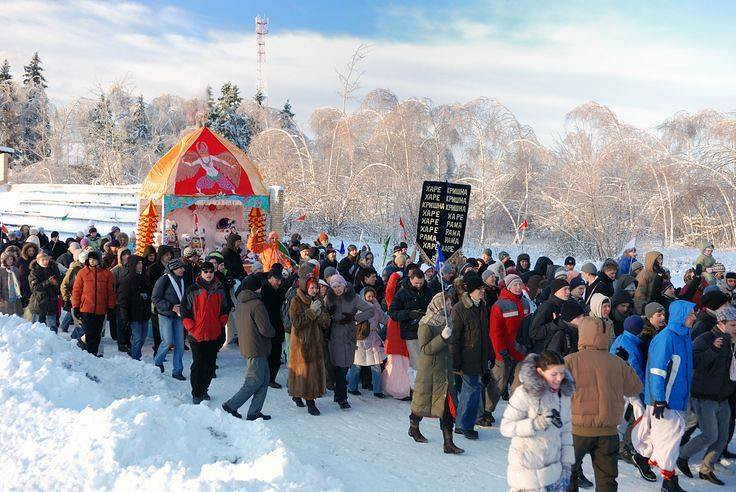 Jagannath, It's Not Snowman! It's Lord of The Lords Jagannath At Siberia; Worlds Coldest City!