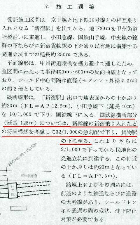 上越新幹線新宿駅と都営新宿線の位置関係 (1)