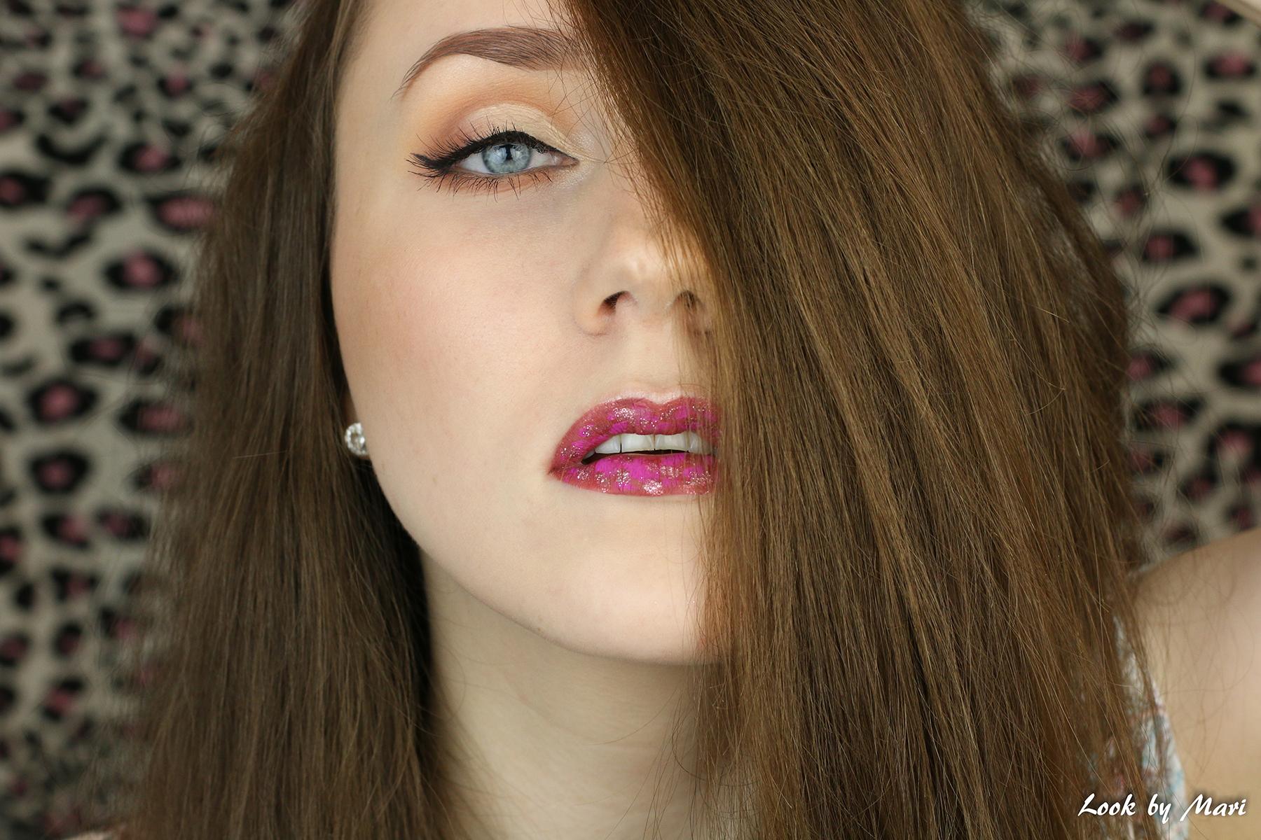 1 lip art glitter lilac violet lip makeup