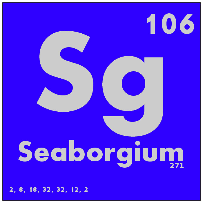 106 Seaborgium Periodic Table Of Elements Watch Study Gu Flickr