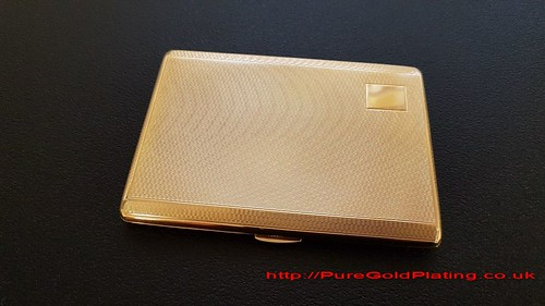 Gold Plated Cigarette Case | by PureGoldPlating