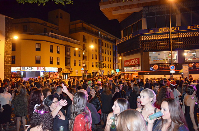 NY Eve street party, Plaza del Charco, Puerto de la Cruz, Tenerife