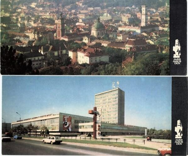 Même registre : Vue sur la Vieille Ville et Lénine au dessus d'un batiment moderne.