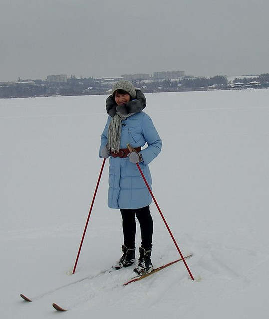 8 Нина минич лижна прогулянка засниженим озером