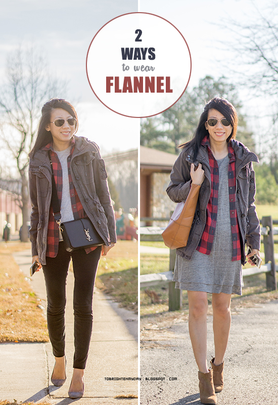 2 ways to wear flannel