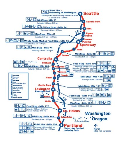 Route Map Of The Seattle To Portland Bike Classic On July Flickr - Map my bike ride