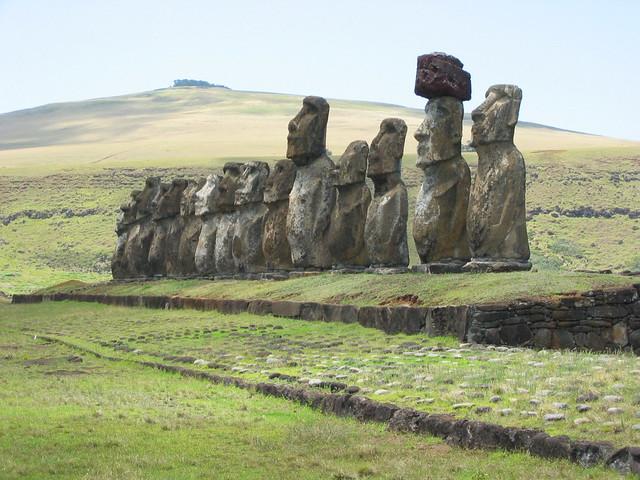 Easter Island Heads Kneeling