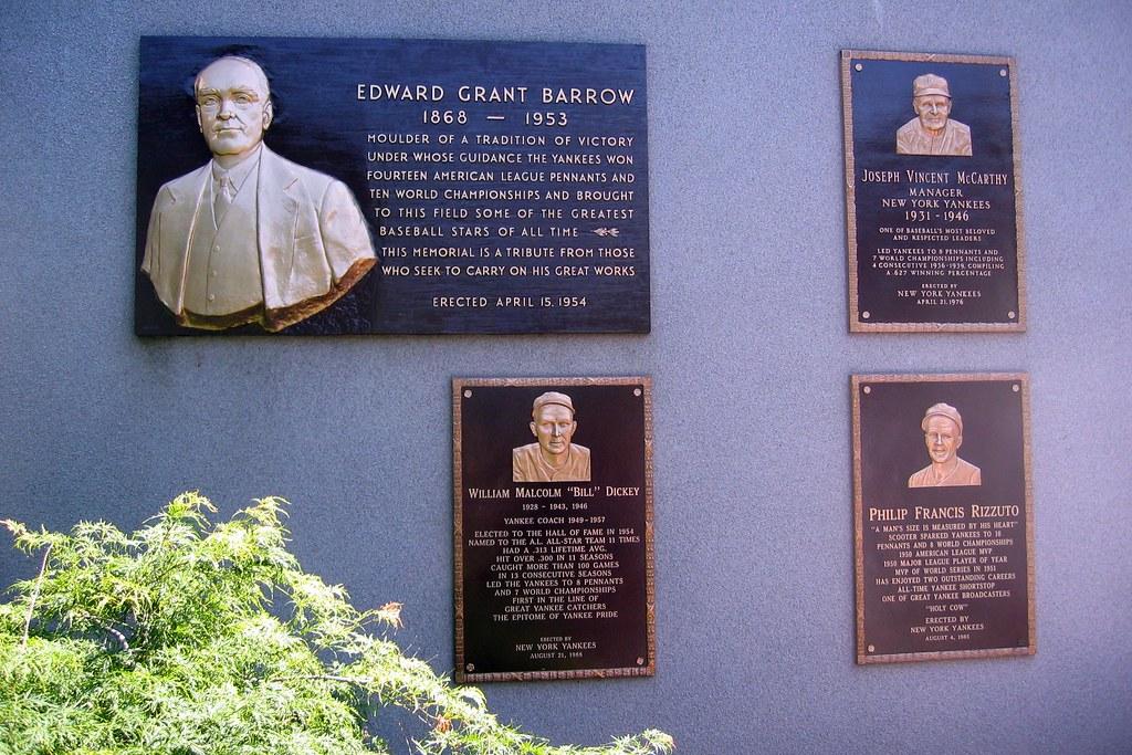 Yankee Stadium Monument Park Plaques Edward Barrow J