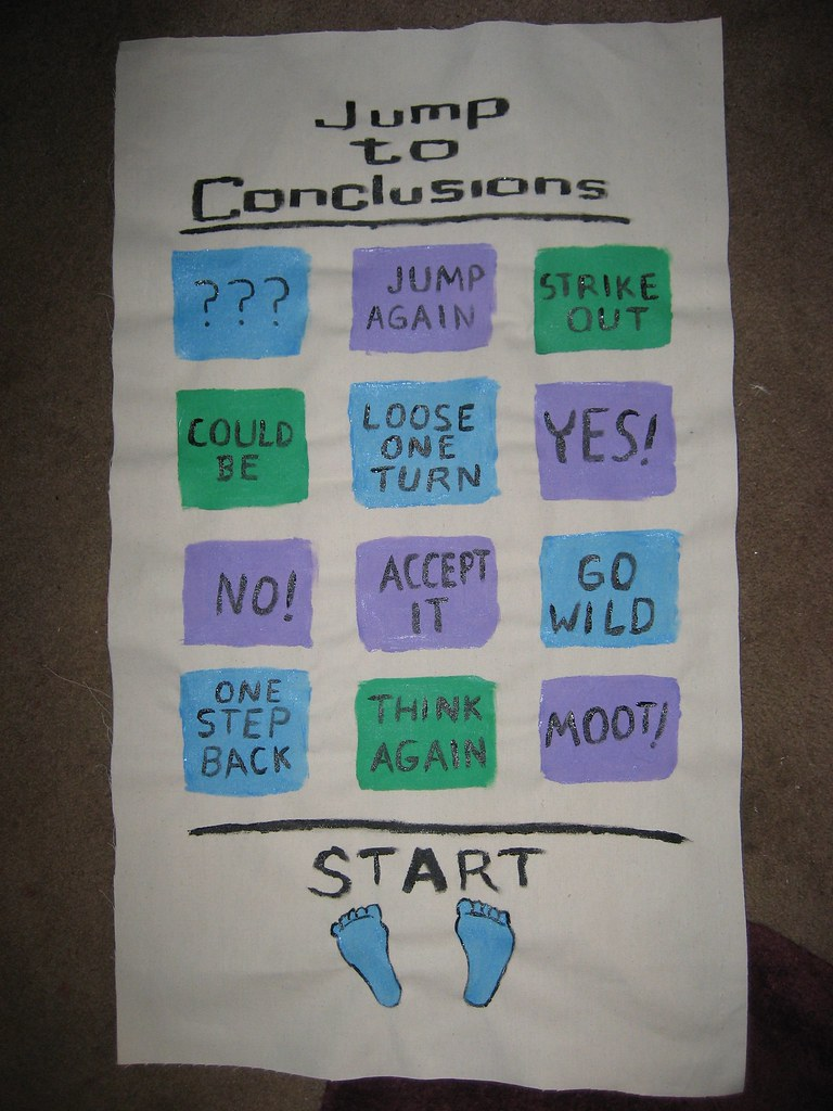 Jump To Conclusions Mat I Had A Great Idea Once Flickr