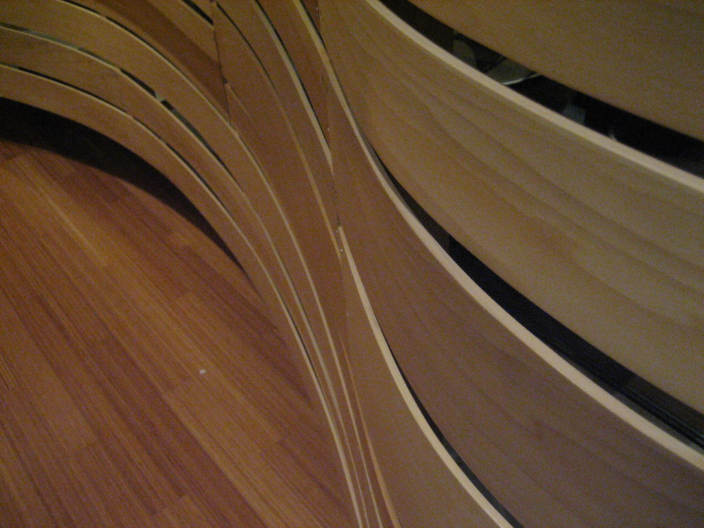 Curved wood wall curved wood walls and hard wood floors for Curved wall
