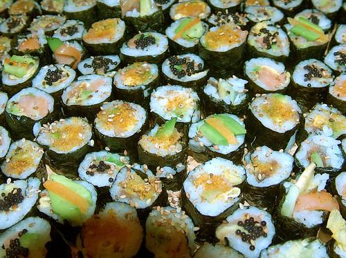 how to make mini sushi rolls