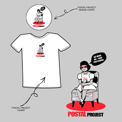 Postal Project -     T- shirt & badge | by perdidos_en_cleveland