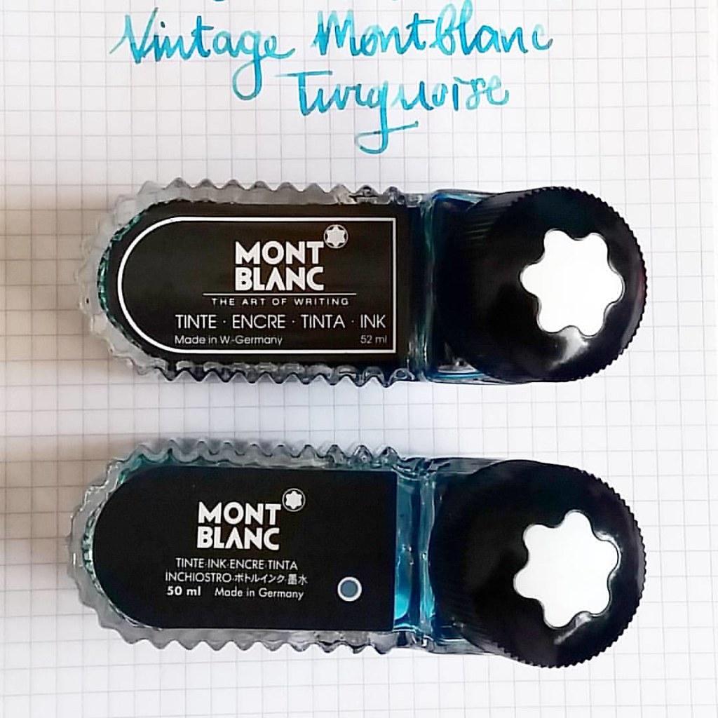 comparing two older montblanc ink bottles back in the day flickr