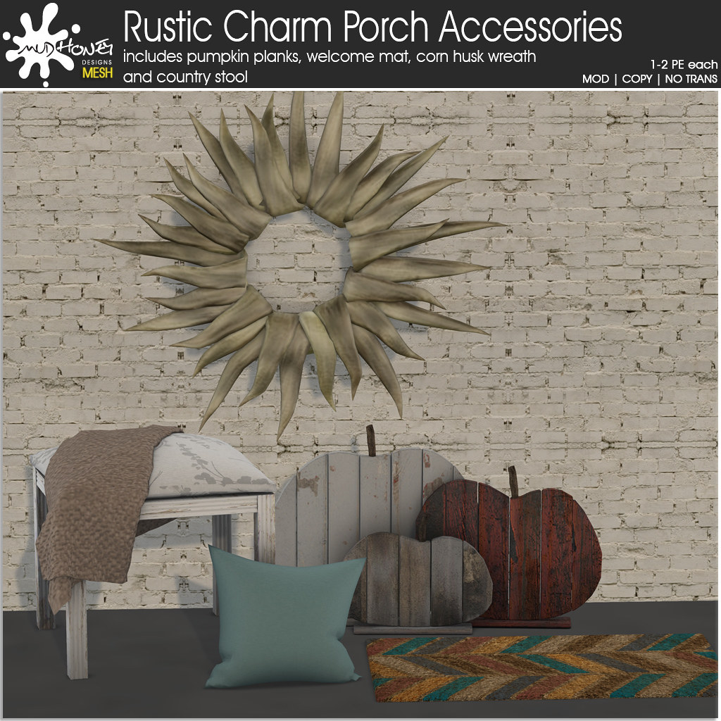 mudhoney rustic charm porch accessories ad