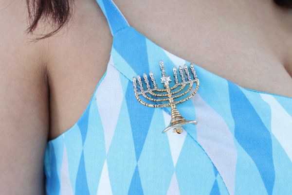 menorah brooch