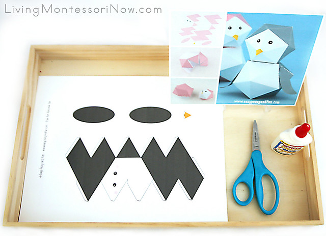 3-D Penguin Paper Toy Craft