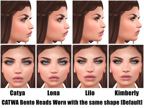 CATWA Bento Female Heads