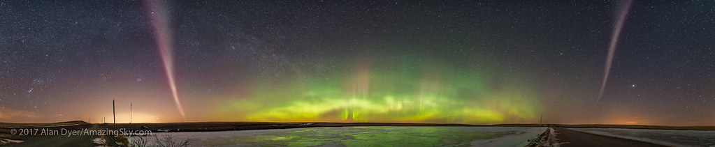 Aurora Panorama with Isolated Arc