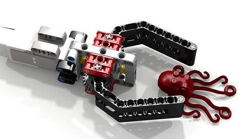 Most simple lego ev3 robot claw w octopus this most for Ev3 medium motor arm