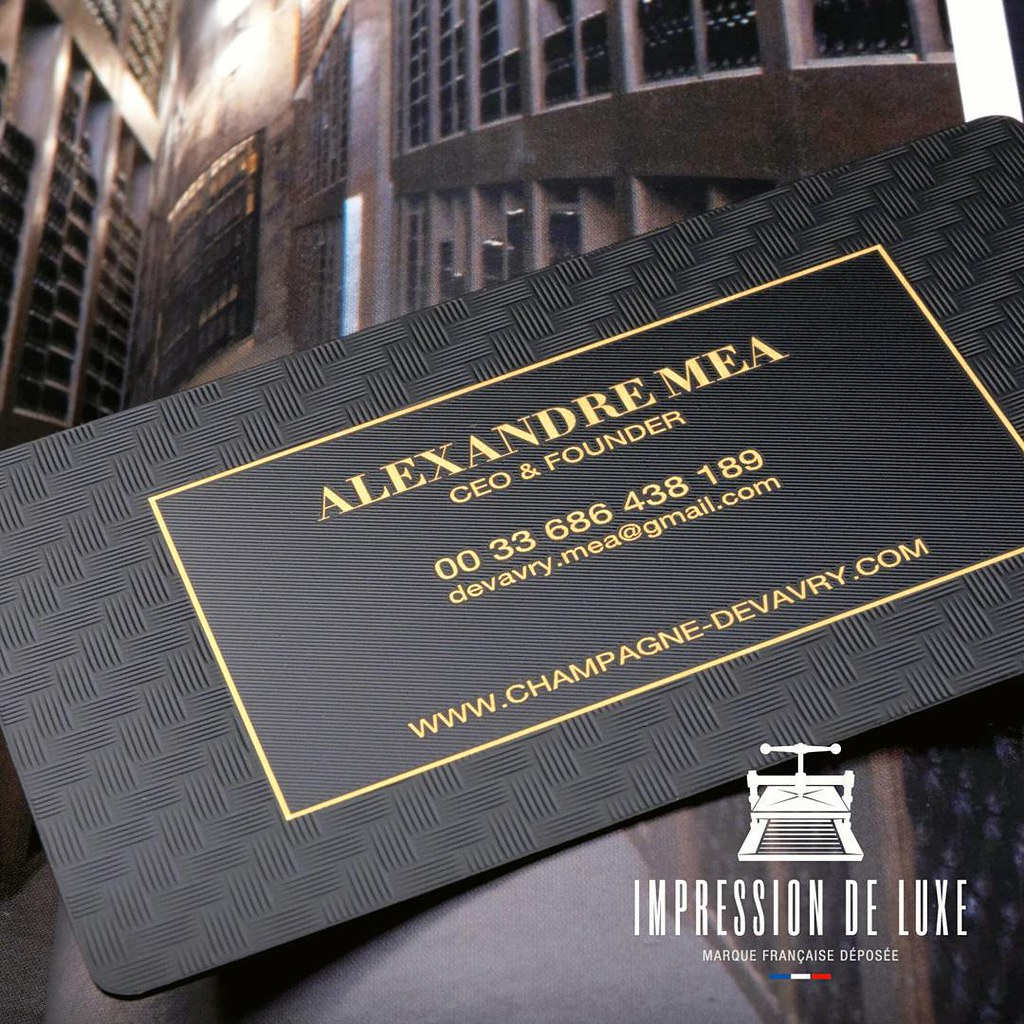 New luxurious business card for luxurious Champagne \