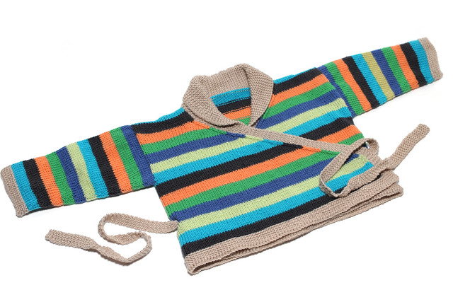 Stripy baby jacket