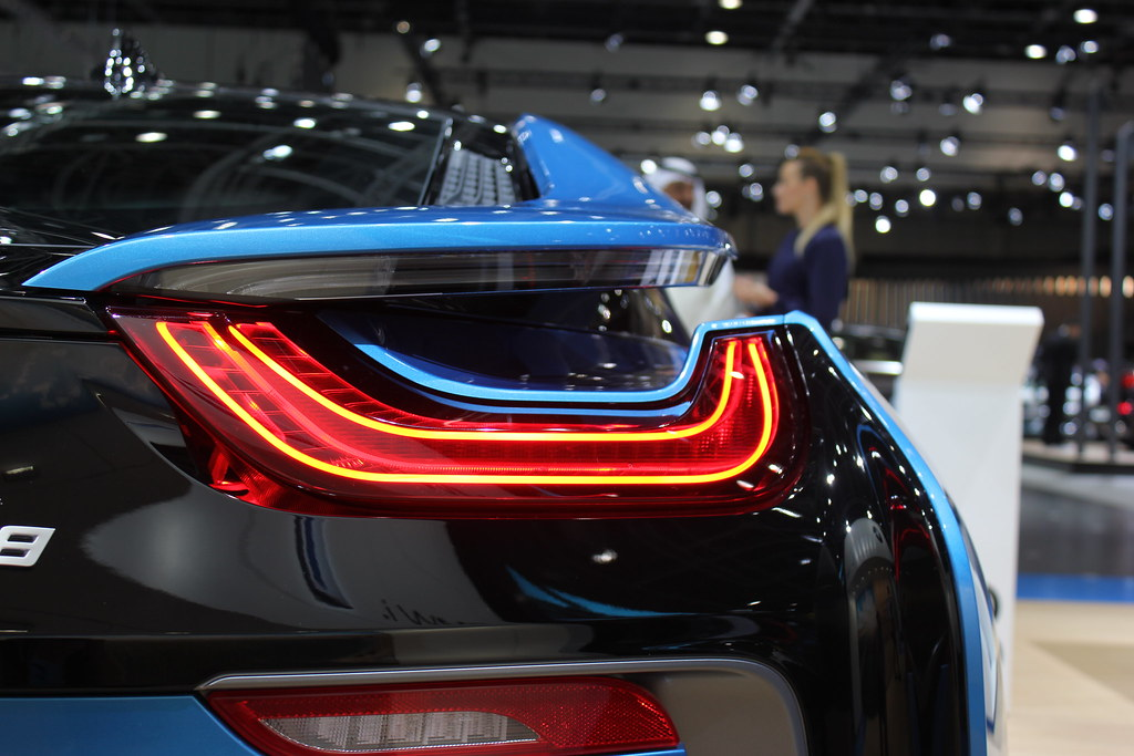 Bmw I8 Rear Lights Dubai Motor Show 2015 Rob O Connor Flickr
