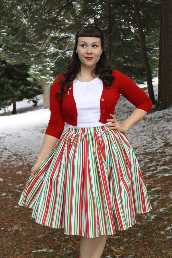 pinup girl clothing christmas skirt