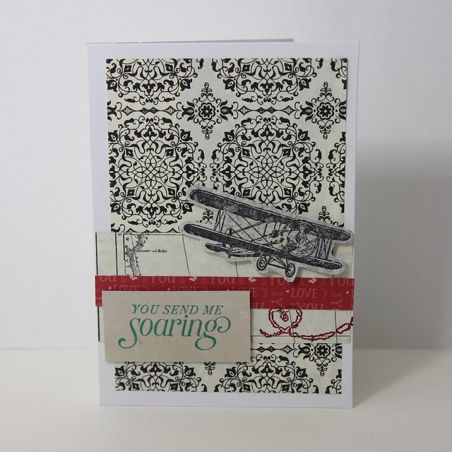 Handmade Valentine's cards for him using Stampin' Up's 'Sky Is The Limit' stamp set
