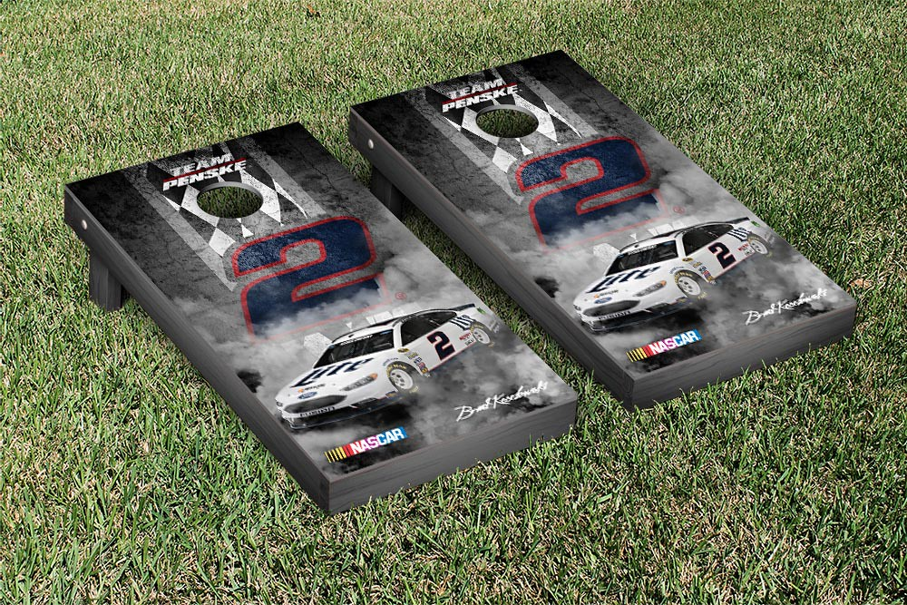 BRAD KESELOWSKI #2 CORNHOLE GAME SET ONYX STAINED STRIPE VERSION
