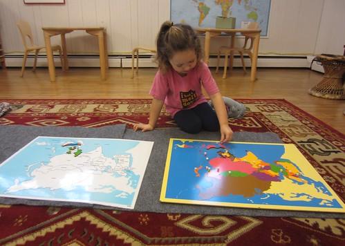 Asia puzzle map