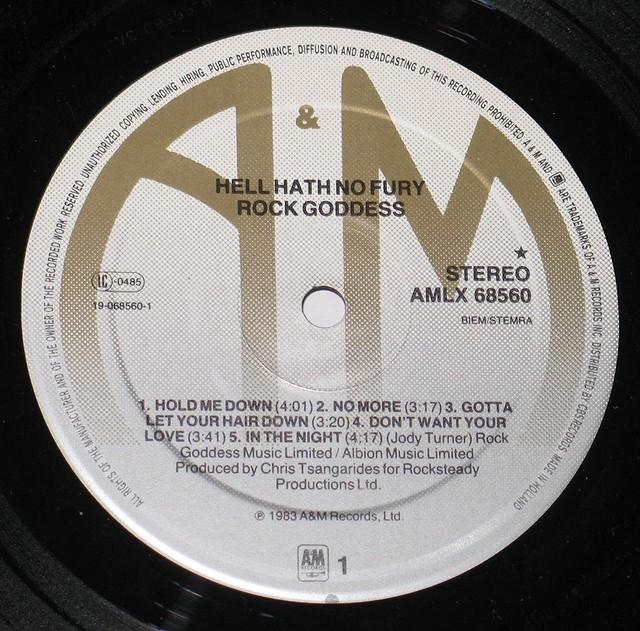 "ROCK GODDESS HELL HATH NO FURY NWOBHM 12"" vinyl LP"