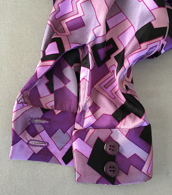 silk bow blouse cuff