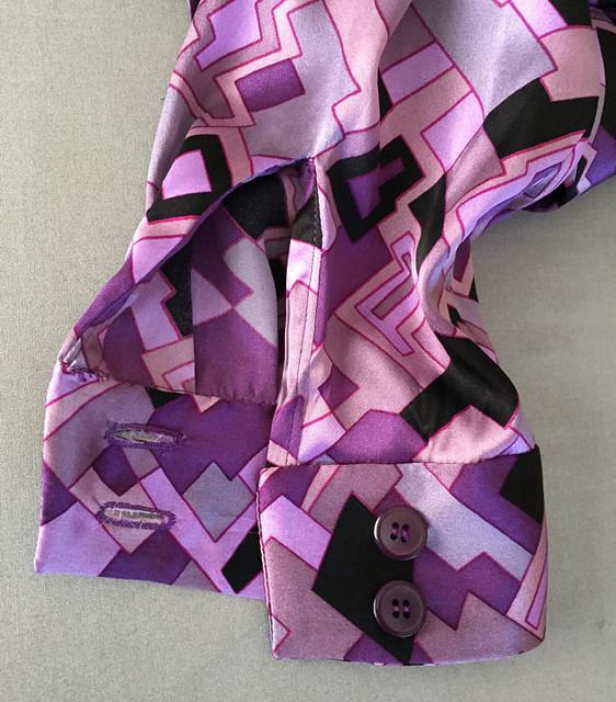 silk bow blouse cuff