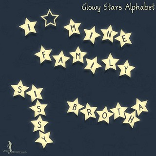 Glowy Stars Alphabet | by ♥☆•Chandni•☆♥ / *~*HopScotch*~*
