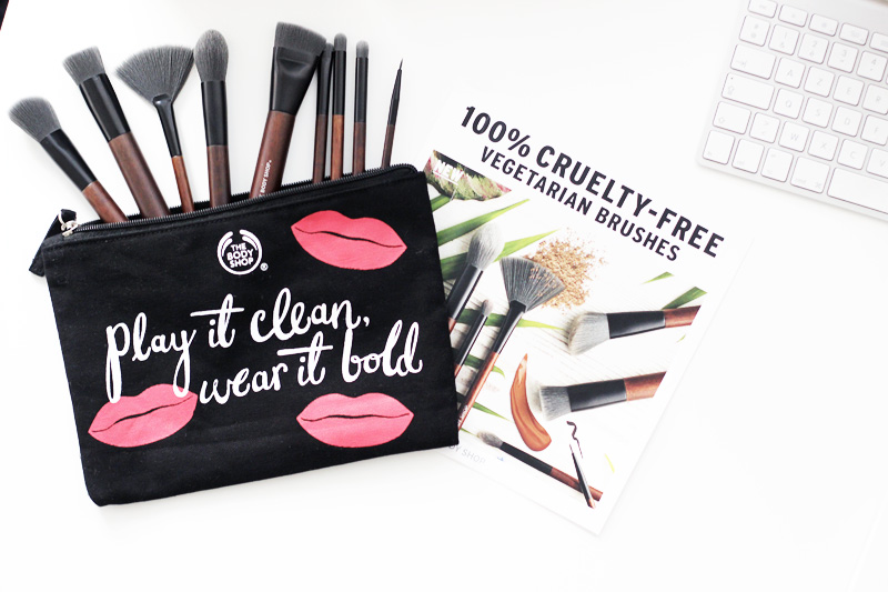 The Body Shop New Vegetarian Vegan Brushes Review