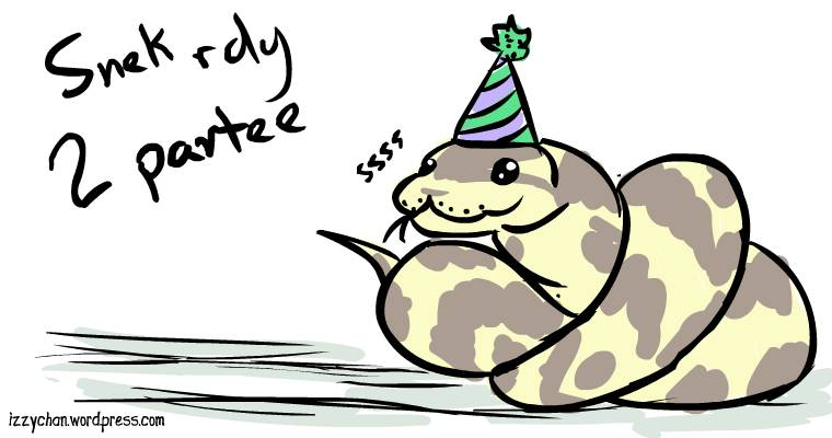 snake in a party hat