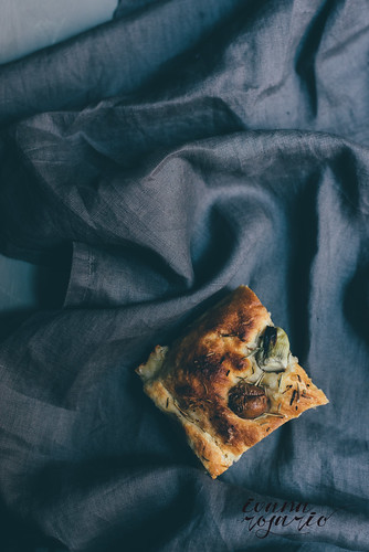 olives and artichokes focaccia | by Ivana Rosario ·
