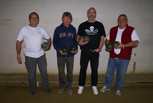 24/10/2015 - Plougasnou : Les finalistes du concours de boules plombées en doublettes mêlées