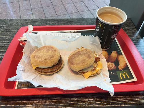 184 - McMuffin Bratwurst & McMuffin Bacon - McDonalds Flughafen München