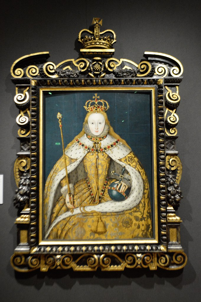 This is a portrait of a young Queen Elizabeth I