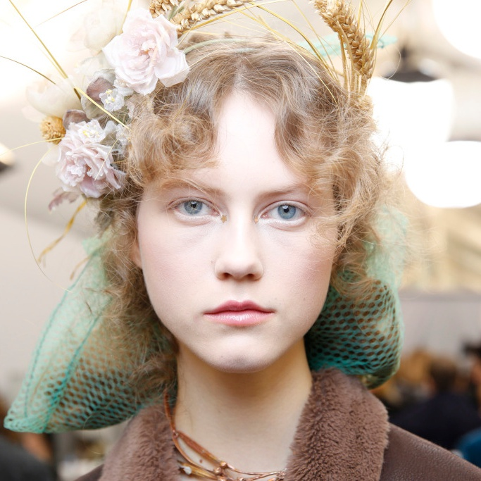 Backstage at Christian Dior Couture Spring 2017